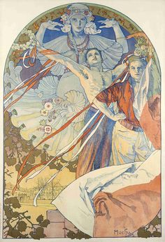 Alphonse Mucha Art Nouveau French Illustrations and Paintings — Stock Kangaroo Art Nouveau Mucha, Alphonse Mucha Art, Bijoux Art Nouveau, Art Nouveau Poster, Kunst Inspo, Art Inspo, Art And Illustration, Animal Illustrations, Illustrations Posters