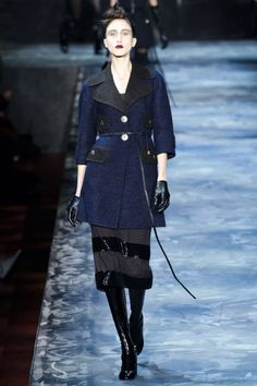 "[Editor's note: Taking a cue from Marc Jacobs, who took his cue from another legend, this recap will be done completely in Harper's Bazaar's ""Why Don't You"" column.] Why don't you thumb your nose at trends like '70s, '90s and clubby toughness and be inspired by the beautiful grand swans like Babe Paley, Jaqueline de Ribe and, most notably, legendary Harper's Bazaar editor Diana Vreeland? Why don't you recreate Vreeland's over-the-top world, from the red living room to the straight shots of…"