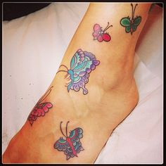 Small Butterfly Tattoos for Women   Amazing Butterfly Tattoo on Foot for Women   Cool Tattoo Designs