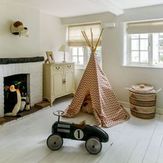 Looking for house tour ideas and inspiration? Take a tour around this light-filled family home, perfect for entertaining in Hampshire Hampshire, Baby Bedroom, Home Bedroom, Bedroom Ideas, Bedrooms, Playroom Decor, Nursery Decor, Looking For Houses, Vintage Children
