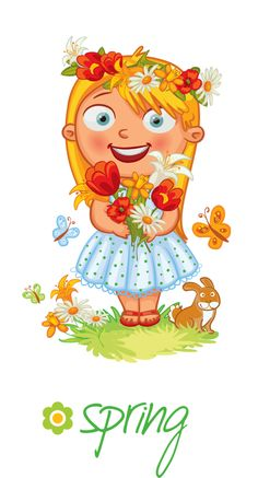 """Photo from album """"Времена года"""" on Yandex. Seasons Of The Year, Months In A Year, Four Seasons, Spring Art, Spring Crafts, Weather Seasons, Clip Art, English Lessons, Drawing For Kids"""