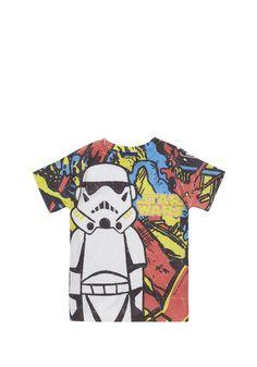 Clothing at Tesco | Star Wars Printed T-Shirt > tops > Tops & T-shirts > Kids