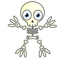 An interesting Halloween party game for kids as well as adults in which each team has to make a skeleton in minimum time.