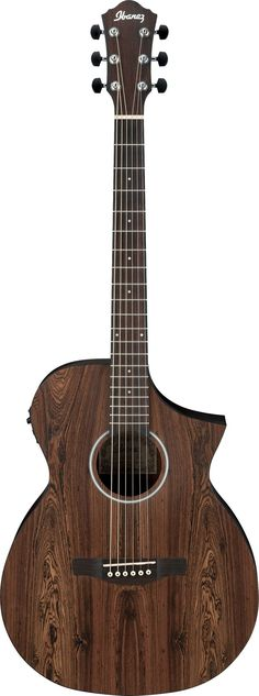 Ibanez AEWC31BV - Bocote Leading the way in visually striking exotic woods, ibanez exotic wood series AEWC31BV features a Bocote Top with Mahogany back and sides. The thinner AEW body is comforatable
