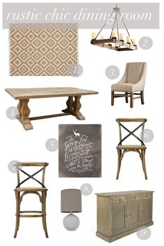 @jdoumit @krystaldoumit I looked up rustic chic and I see my light, table and almost same rug in the first pin.