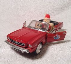 EXC++ AMOCO 1964 1/2 FORD MUSTANG with CHRISTMAS SANTA  limited edition diecast #Amoco