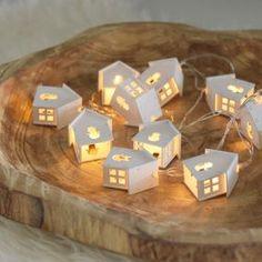Světelný řetěz - LED domečky