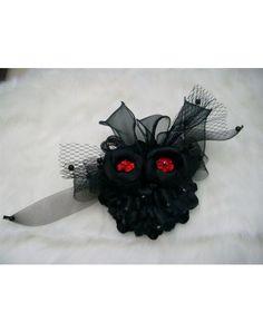 Black Beading Wedding Headpieces