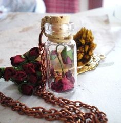 Beauty and the Beast rose. just. aw.  -if the chain was in sterling silver this would be amazing!