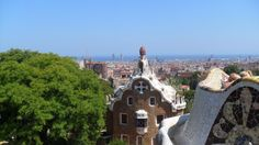 views from Park Güell´s main plaza. Spain Travel, Italy Travel, Travel Europe, Places To Travel, Places To Visit, Backpacking Spain, Posters Australia, Santorini Greece, Barcelona Spain