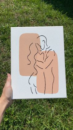 Canvas Art Projects, Canvas Painting Tutorials, Easy Canvas Painting, Simple Canvas Art, Mini Canvas Art, Drawing On Canvas, Canvas Silhouette, Minimalist Canvas Art, Handmade Canvas Art
