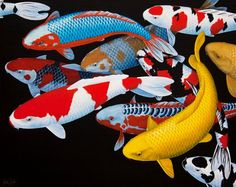 Koi art at http://www.keithsiddleart.com/gallery/Koi%20-%20Goldfish/index.html