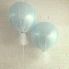 Sweet & simple Our 3ft balloons wrapped in quality bridal tulle