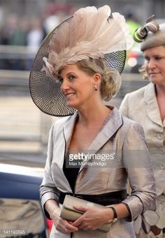 Sophie Countess of Wessex attends the annual Commonwealth Day Observance Service at Westminster Abbey on March 12 2012 in London England Fascinator Hats, Fascinators, Headpieces, Sophie Rhys Jones, Countess Wessex, Lady Louise Windsor, English Royal Family, Races Fashion, Fancy Hats