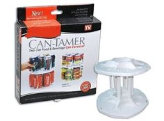 Can Tamer The best home Storage Carousel Can Organizer Space Saver Conister