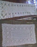 Arte em Crochet: Tapete em crochet com flores em barbante