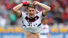 Bastian Schweinsteiger: About to exchange his Bayern Munich shirt for a Manchester United one
