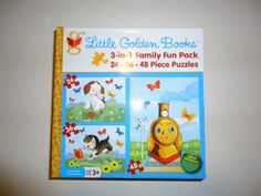 ALL PUZZLES ON SALE for a limited time -some great reductions!  Buy Now!  Little Golden Books 3 in 1 Family Fun Pack Puzzle Little Golden Books,http://www.amazon.com/dp/B00AV8P35I/ref=cm_sw_r_pi_dp_rb8ysb03ZENN916Q