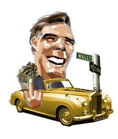 Mitt Romney Cariature by Claude Bossett Illustration