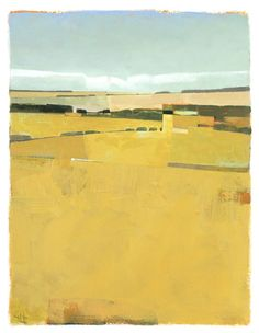 """Fence Lines and Fields Greg Hargreaves acrylic14"""" x 18"""""""