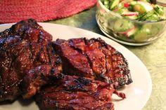 Grilled Hoisin-Glazed Steak with Vegetbles