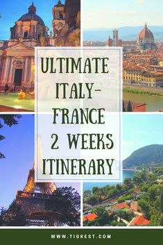 Welcome to the best 2 Weeks Italy France itinerary. If you haven't been to Italy or France before or would like to revisit them, this itinerary is for you! We start from Rome, visit Pompeii, Florence, San Marino, Milan, Como, then move to Nice (France), Monaco, Eze and finally Paris!