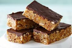 Chewy Toffee Bars—A combination of chow mein noodles, pretzels and cornflakes gives these sweet-salty bars a satisfying texture. Look for crunchy chow mein noodles—our secret ingredient—in the Asian foods section of your supermarket.