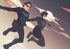 Nightwing Dick Grayson Kid Flash Wally West