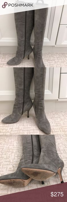 Gray suede Bia Spiga Boots Beautiful gray suede Via Spiga boots. Gently worn only a few times. Sill in great condition! Via Spiga Shoes Heeled Boots