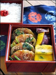 Lunch [lotus root and plum teriyaki bento pig rose] of 2014.10.20 | bending duck lunch of wappa