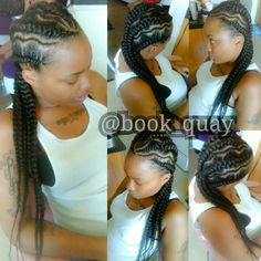 """Natural Braids """"Feed In Method"""" #Cornrows #CurvyParts love it Pinterest Inspired #PittsburghStylist @book_quay"""