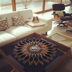 George Nelson Sunflower Clock by Vitra - Makes for an interesting coffee table too.