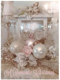 Here are the best Shabby Chic Christmas Decor ideas that'll give your room a romatic touch. From Pink Christmas Tree to Shabby Chic Christmas Ornaments etc Shabby Chic Christmas Ornaments, Gold Christmas Decorations, Pink Christmas Tree, Victorian Christmas, Beautiful Christmas, Vintage Christmas, Christmas Holidays, Christmas Wreaths, Christmas Villages