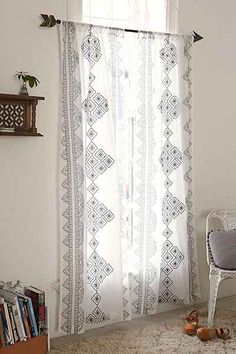 Magical Thinking Embroidered Diamond Curtain - Urban Outfitters ($79)