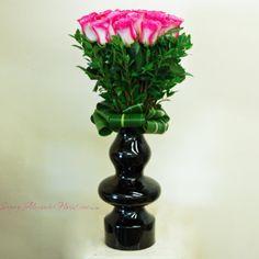 Sonny Alexander Flowers, Valentines Day flower arrangement, pink roses, tall floral arrangement