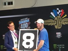 Dale Jr. was given the number 8 from the old Indy scoring pylon, 2017