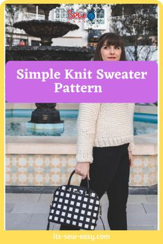 Just because you pick up a simple and quick to knit pattern doesn't mean it has to be tacky and boring. This simple knit sewing pattern is proof that simple knitting patterns can also be elegant and fashionable. In as little as a weekend, you can whip this baby up ready for you to wear when dropping the kids off to school on Monday. there is a full video tutorial that you can refer to. #sewaterpatterns#knitsewaterpatterns#knittingpatterns#easysewaterpatterns#easyknittingpatterns Jumper Patterns, Knit Patterns, Sewing Patterns, Simple Knitting, Sweater Knitting Patterns, Baby Up, Getting Cozy, Simple Designs, Elegant
