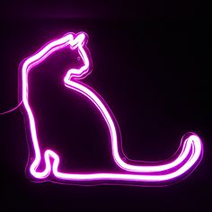 cat neon sign LED ; neon sign Custom Neon Signs, Led Neon Signs, Neon Cat, Funky Lighting, Best Photo Background, Cat Icon, Neon Design, Cat Signs, Neon Aesthetic