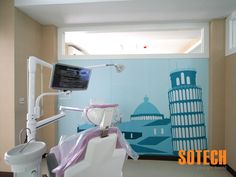 This Dental Clinic is a three storey commercial building, designed and built by Sotech. With over 5,000 square meters of internal space there is plenty of working space for up to 35 professional dentists. All built-in furniture's is also designed and built by us, including decorative walls, office partition walls, glass walls and even the children areas. www.sotech-asia.com