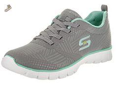 SKECHERS Women's EZ Flex 3.0 - Ready-To-Roll Gray/Mint Sneaker 6.5 B (M) - Skechers sneakers for women (*Amazon Partner-Link)