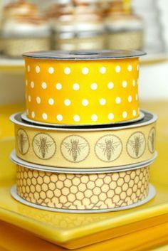 Bee & Honeycomb Ribbons
