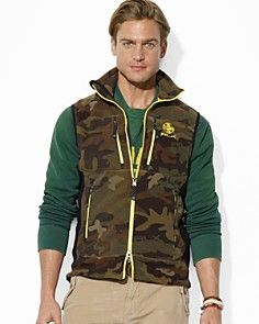 Polo Ralph Lauren RLX Camouflage Polar Fleece Vest