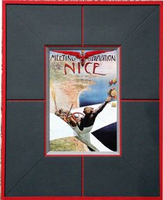 Passe partout morcellé pour cette carte vintage de Nice