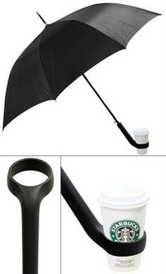 umbrella with cup holder  crookedbrains