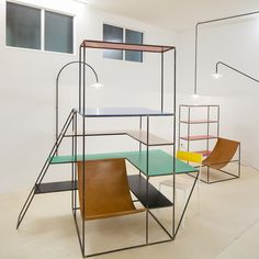 MULLER VAN SEVEREN  on a diet of style and design...  Showcased in art installation style at Interieur Kortrijk 2012, the duo cite Judd and Bauhaus as inspirations, but also display the influence of the De Stijl-ist artworks of Mondrian in 3D...