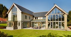 Tregonning, A new green oak frame house in Torquay, Devon.