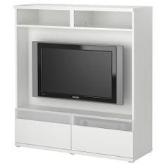 best bos tv storage unit white ikea