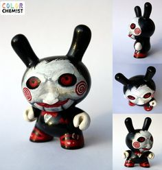 Saw Puppet Dunny. Acrylic on 3: vinyl.