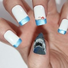 55 Killer Shark Nail Designs