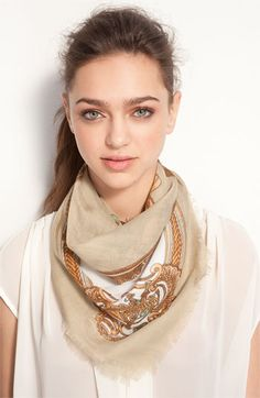"""equestrian status"" square scarf. love it in orange too."